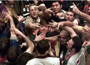 Traders in the pit