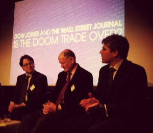 Left to right: Paul Lambert (Insight Investment), Kit Juckes (Societe Generale) and Kevin Bloom (HSBC)